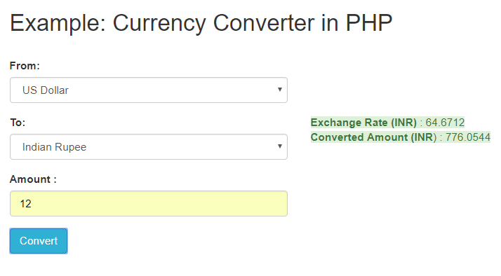 In This Tutorial You Will Learn How To Build Currency Converter Php Using Google Finance Api The Explained Easy Steps With Live